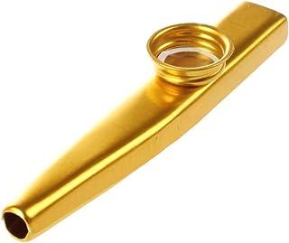 SODIAL Mirliton de Metal Boca de Flauta Armonica Instrumento Musical Ventas Calientes practico Oro
