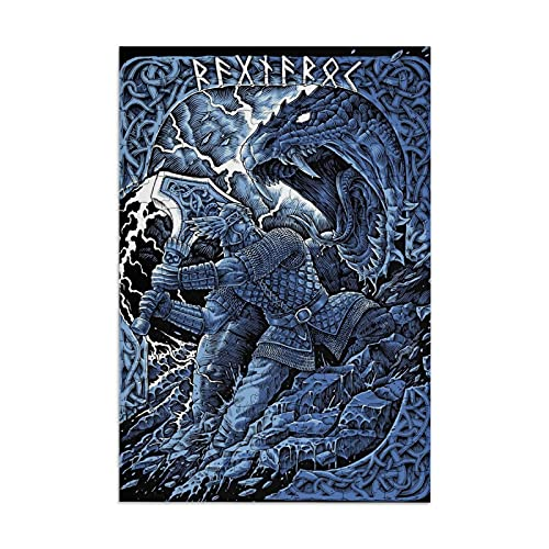 Norse Wicca Mythology 98 Pieces Jigsaw Puzzle Pictures Large Wooden Puzzle for Adults Teens Boys Girls Game Artwork for Home Wall Decoration Photo