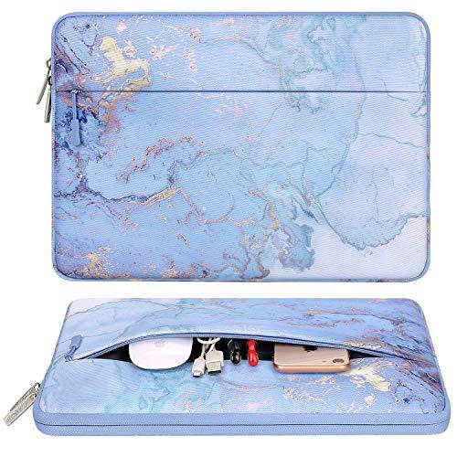MOSISO Laptop Hülle Tasche Kompatibel mit MacBook Pro 16 Zoll Touch Bar A2141 2020 2019, 15-15,6 Zoll MacBook Pro Retina 2012-2015, Notebook,Polyester Horizontal Aquarell Marmor Schutztasche Sleeve