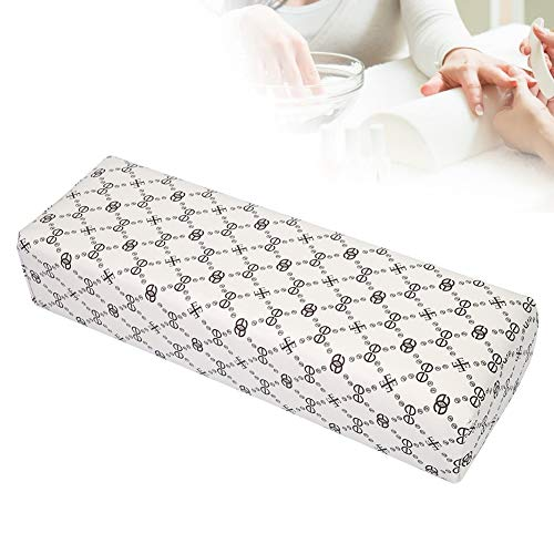 Nail Art Hand Pillow, Pu Leather Manicure Arm Rest Pillow with Soft Filler Amovible and Easy to Clean, Help Relief Hands Fatigue and Stress(1#)