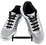 WELKOO® Cordones elásticos de silicona sin nudo impermeables para calzado de adulto -16 pza,Talla ADULTO negro