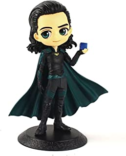 Kid's Toy 15cm Q Posket Infinity War Figures Spiderman Thor Loki Avengers Model Dolls Birthday Gifts ( Color : Dark Green )