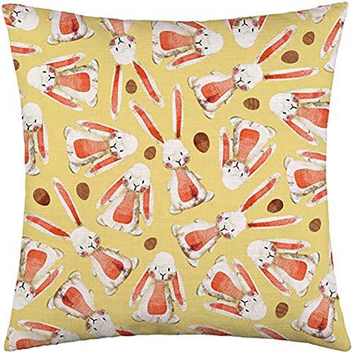 Noete Throw - Funda de cojín de piel de melocotón de Pascua con impresión digital para sofá, cojín decorativo cuadrado, 45 x 45 cm