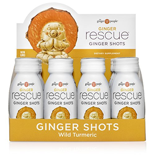 The Ginger People Ginger Rescue Ginger Shots, Wild Turmeric 24 Fl Oz (Pack of 12)