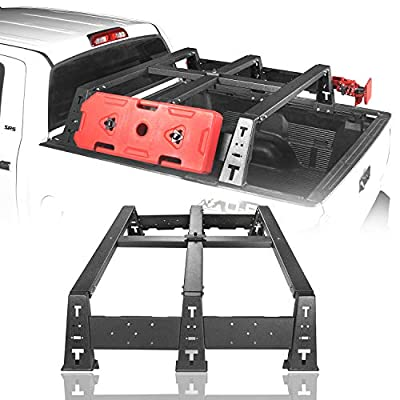 """Hooke Road Tundra Bed Rack Mount MAX 13"""" High Crossbar Rails Cargo Carrier for 2014-2021 Tundra Regular 