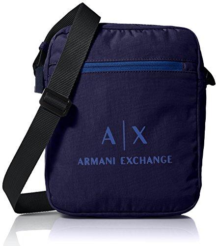 Armani Exchange Herren Messenger Bags Geldbörse, Blau (Dark Sea), 45.0x14.0x35.5 cm