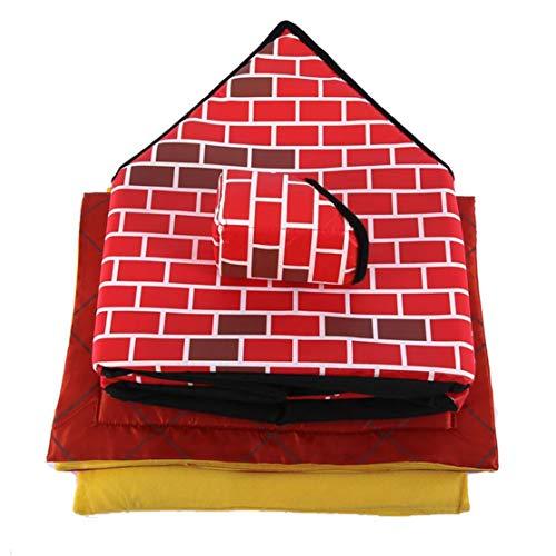 Candybarbar Tragbares Ziegelstein-Haustier-Haus mit dem Kamin-warmen und gemütlichen Hundekatzen-Bett-abnehmbarem waschbarem Haustier-Zelt passend während Aller Jahreszeiten