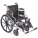 Invacare Tracer EX2 Wheelchair for Adults | Standard Folding | 18 Inch Seat | Legrests & Desk Arms