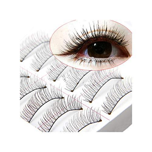 10 Paires Main Longues Faux Cils Naturels Maquillage Extensions De Cils Noirs Cils Contour Des Faux Cils Beauté Cosmétiques 10Mm