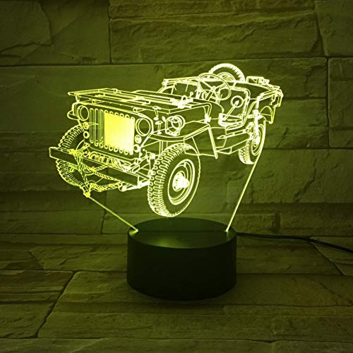 Laofan Tractor 3D Night Light Color Changing Led Book Lamp Indoor Decorative Desk Lighting Children Gifts,Changeable