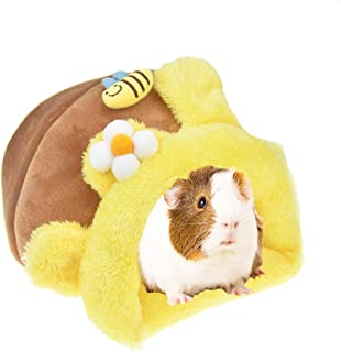 MUYAOPET Rabbit Guinea Pig Hedgehog Snuggle Sack Fleece Bed for Cage Small Animal Hamster Chinchilla Bed House for Squirrel Rat