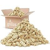 grillas Pastillas de Encendido Ecológicas Enceradas | Encendedores de Barbacoa de Madera Natural | Pastillas de Lana de Leña para Chimeneas, Estufas, Fogatas, Ahumadores (10 kg (800 unidades))