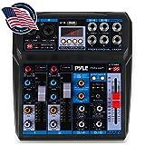Professional Wireless DJ Audio Mixer - 6-Channel Bluetooth Compatible DJ...