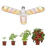 Esbaybulbs Lampe de Croissance pour Plantes, E27 150W Lampe pour Plante 414 LEDs Lampe Horticole 180° Enluminure Secteur Spectre Complet pour Les Plantations en Intérieur