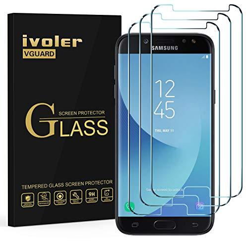 ivoler Kompatibel für Panzerglas Schutzfolie Samsung Galaxy J5 2017, 9H Festigkeit, Anti- Kratzer, Bläschenfrei, [2.5D R&e Kante], [3 Stücke]