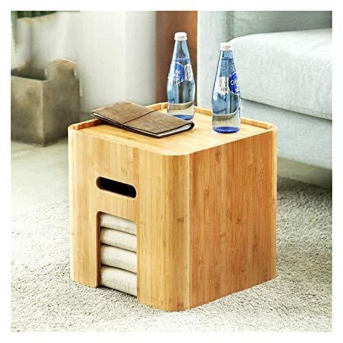 Mesa baja Mesa baja Pequeñas mesas auxiliares de mesa de café creativa de bambú café tatami japonés Mirador de múltiples funciones de almacenamiento de almacenamiento de las heces de almacenamiento de