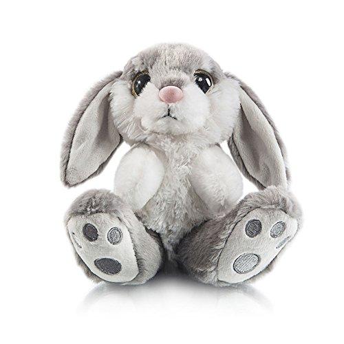 "My OLi 8"" Bunny Plush Rabbit Floppy Ear Sitting Bunny Stuffed Animal Gray for Babies Kids Boys Girls"