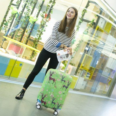 ROUHO Luggage Cover Elasticity Trolley Dustproof Suitcase Bag Travel Suitcase Protector Cover - K10 XL