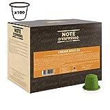 Note d'Espresso - Lot de 100 capsules de boisson goût crème brûlée, 100x6g