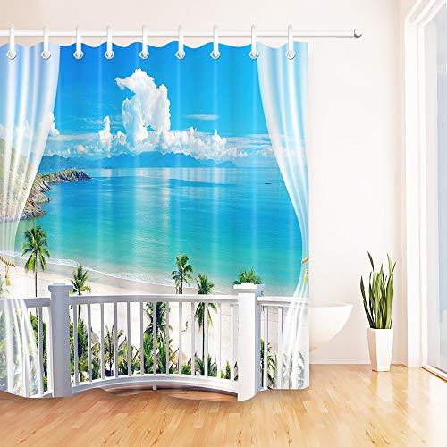 Sand Beach Shower Curtain Hawaiian Paradise