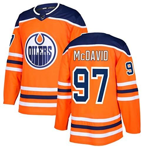 GAORX Oilers Team #33#27#29#93#97#99 Eishockey Trikots NHL Herren Sweatshirts T-Shirt Nähen Buchstaben und Zahlen