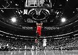 Poster Lebron James Basketball Jump Wall Art