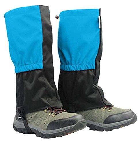 BLANCHO BEDDING Praktische Outdoor Wandern Gamaschen Schneefang Bein Gamaschen, Blau, 14,57 \'\' #01