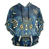 Sudadera con capucha india de elefante estilo mandala para suéteres informales y finos Pequeño. S