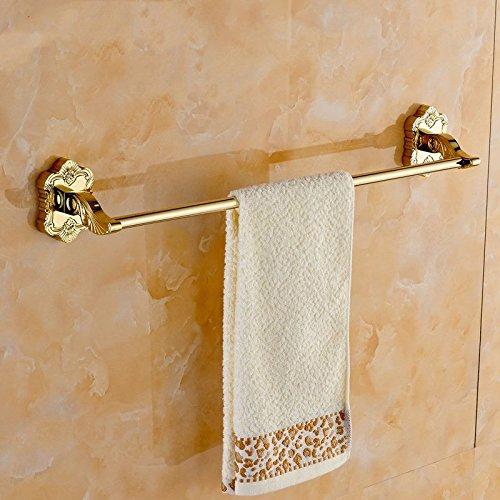 Handtuchhalter der Laden hat auch: Badaccessoires, Handtuchhaken, Handtuchring,Handtuchhalter Aufhänger Kupfer European Gold geschnitzte einzelne Handtuchhalter vergoldet Bad Handtuchhalter