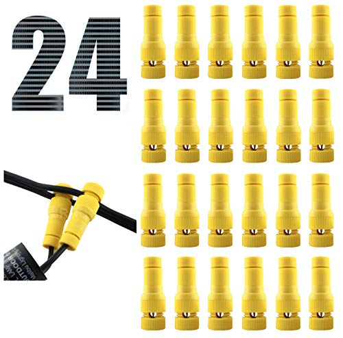 SRRB Direct Low Voltage Replacement Landscape Light 12-14 Gauge Wire Cable Connector for Malibu Paradise Moonrays and More… (24PCS)