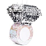 Juvale Small Diamond Ring Pinata, Bridal, Engagement, Bachelorette Party Supplies, 7 x 7 x 11 Inches