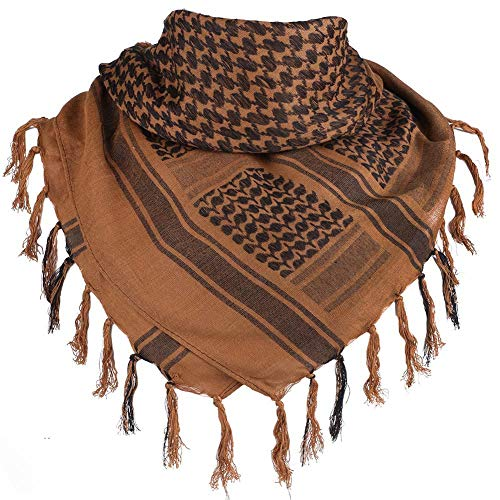100% Cotton Scarf Military Shemagh Arab Tactical Desert Keffiyeh Thickened Head Neck Scarf Wrap for Women and Men 43'x43'