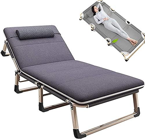 JAKWBR Silla reclinable plegable con gravedad cero para jardín, tumbona, muebles de patio, reclinable, con reposacabezas ajustable para exteriores