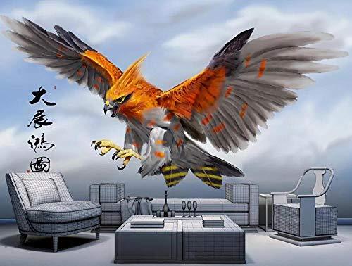 Papel Pintado 3D Murales Alas De Águila Pintadas A Mano Fotomural 3D Decoración Papel Tapiz Dormitorio Sala Custom Wallpaper-200cmX140cm