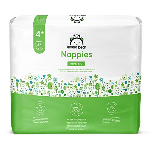 Marque Amazon - Mama Bear - 172 Couches bébé ultra absorbantes - Taille 4+ (9-15 kg)