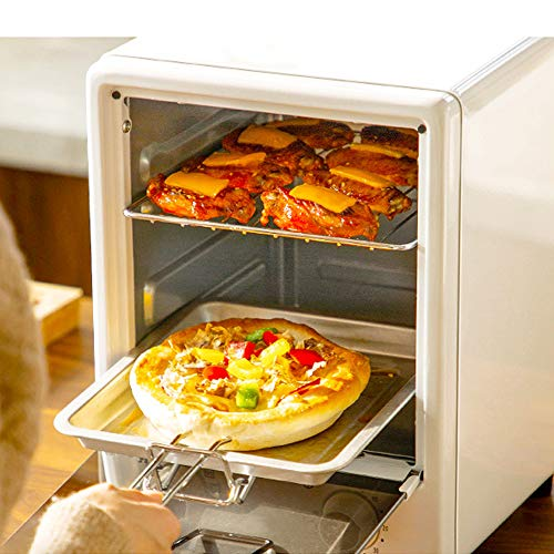 MAOMAOQUEENss Mini Electric Convection Oven Vertical Bakery Toaster Timer 12L 220V Biscuits Cookie Cake Pizza Bread Breakfast Baking Machine Small Oven For Household Baking,Black