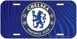 English Premier League Chelsea Football Club License Plate, Thin Plastic, 6 x 12 inches