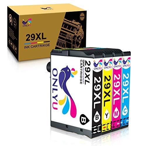 ONLYU Cartucho de Tinta Compatible para Epson 29XL Reemplazo para Epson 29 Expression Home XP-235 XP-245 XP-247 XP-335 XP-342 XP-345 XP-330 XP-332 XP-430 XP-432 XP-435 (Paquete de 4)