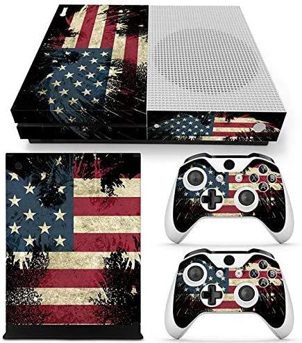 DAPANZ American Flag Skin Sticker Vinyl Decal Cover for Xbox One S Console 2 Controllers product image
