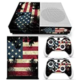 DAPANZ American Flag Skin Sticker Vinyl Decal Cover for Xbox One S Console + 2 Controllers