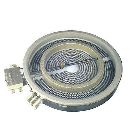 Strahlheizkörper HiLight Heizkörper Glaskeramik 175/110mmØ 1700/700W 230V Kochfeld Herd EGO 10.58211.004
