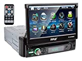 New PYLE PLTS78DUB 7' TOUCH SCREEN CD/DVD/MP3 Car Player w/USB SD AUX Receiver (Renewed)