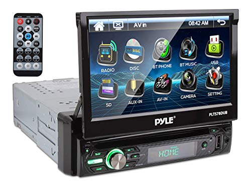 New PYLE PLTS78DUB 7  TOUCH SCREEN CD DVD MP3 Car Player w USB SD AUX Receiver (Renewed)