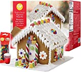 Gingerbread House Kit - Christmas Traditional Gingerbread House Decorating Kit, Pre-assembled -...