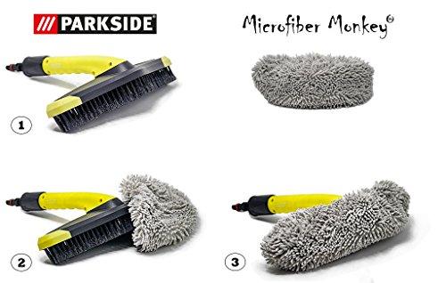 Parkside microvezel borstelovertrek geschikt voor Parkside wasborstel PWB 30 A1 voor LIDL hogedrukreiniger PHD serie