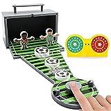 Prevessel Juegos de mesa – Mini juego de bolos de fútbol Set de juguetes de escritorio clásicos de bolos de escritorio para niños y adultos (fútbol)