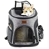 RETRO PUG Cat Carrier Backpack - Front Pack - Airline Approved - Strap Adjustable - Pet Carriers for Small Dogs and Cats - Travel, Hiking, Outdoor with Dog - Include Fleece Pad - Up to 10 lbs