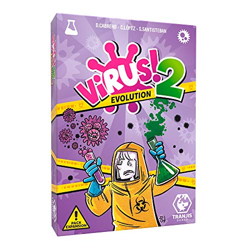 Tranjis games Set Completo Virus + Expansión (Virus 2) + Deckbox + ...