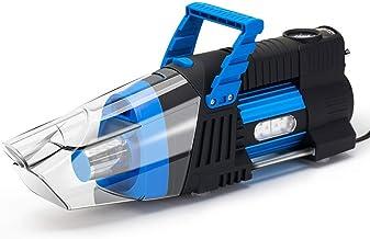 Portable Car air Pump Vacuum Cleaner Machine 180W high Power 12V car tire car Multi-Function air Pump Car Vacuum Cleaner (Color : Blue)