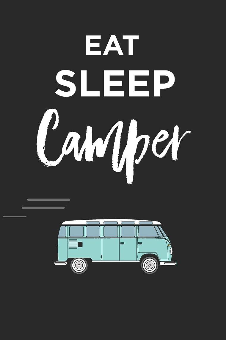 大破未就学小間Eat Sleep Campervan Notebook: Fun Blank Lined Journal
